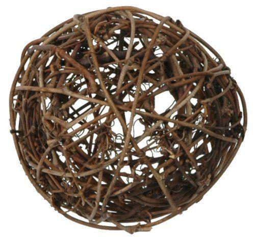 Rattankugeln sortiert braun, 3 + 4 + 7 cm, 10 Stück