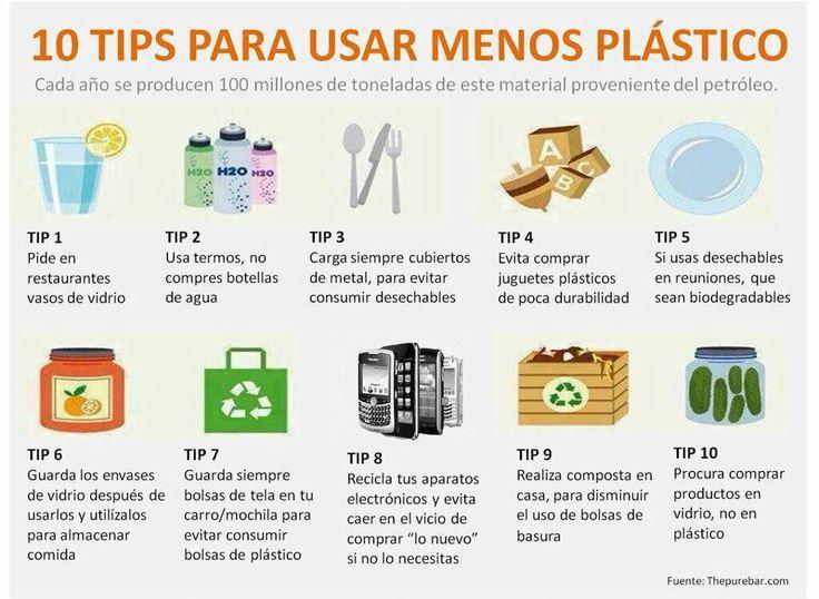 10 TIPS para usar menos plástico en nuestra vida diaria