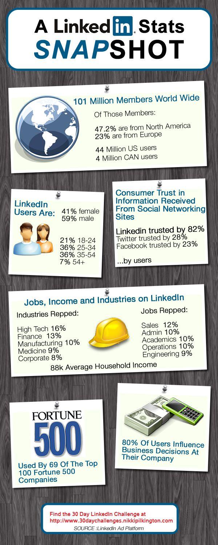 A LinkedIn Stats Snapshot