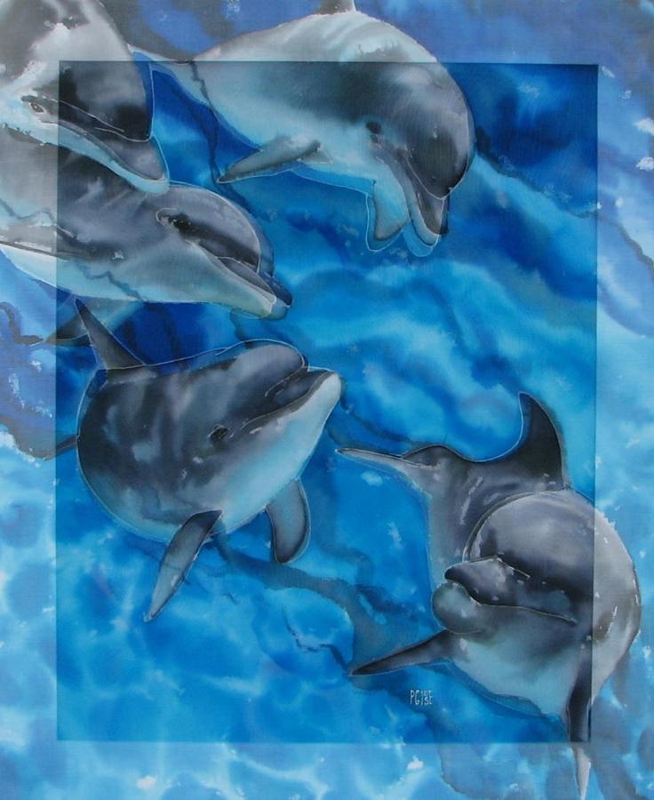 Фото батик дельфины