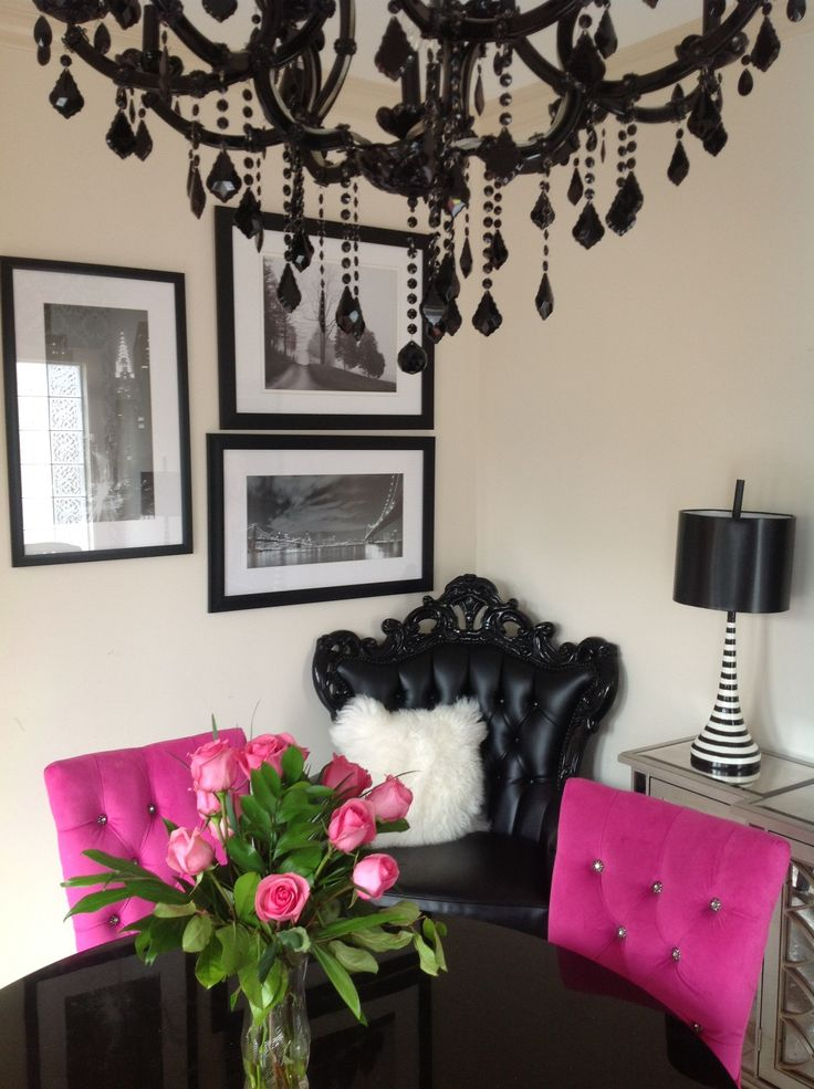 My Pink Dining Room
