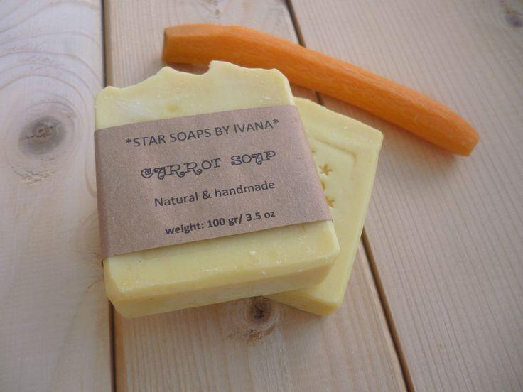 CARROT SOAP - Handmade Carrot Soap - Organic, Natural carrot soap bar with Shea