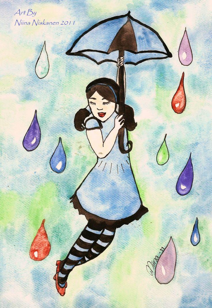 """Look I fly"" (c) Niina Niskanen Watercolors"