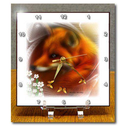 dc_23399_1 SmudgeArt Wildlife Designs - Red Fox and Butterflies Framed White - Desk Clocks - 6x6 Desk Clock 3dRose http://www.amazon.com/dp/B005CLY1S4/ref=cm_sw_r_pi_dp_ITQbwb189F3J8