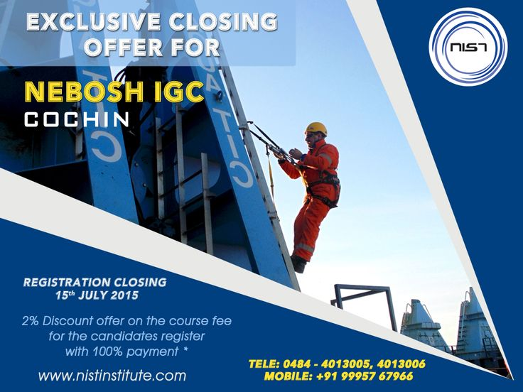 NIST Institute Provides Safety Courses In Cochin As Most Of The Officer Gulf