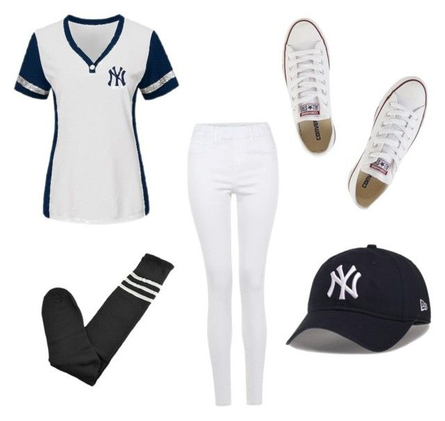 """""""Baseball Costume"""" by naticar on Polyvore featuring Converse"""