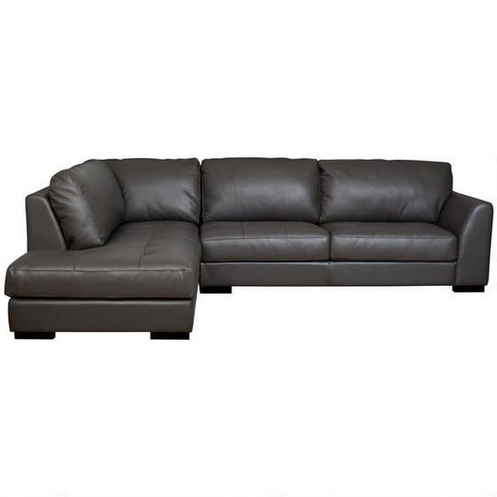 Boone Leather Sofa Chaise Grey Greyscale Pinterest Leather Grey And Products