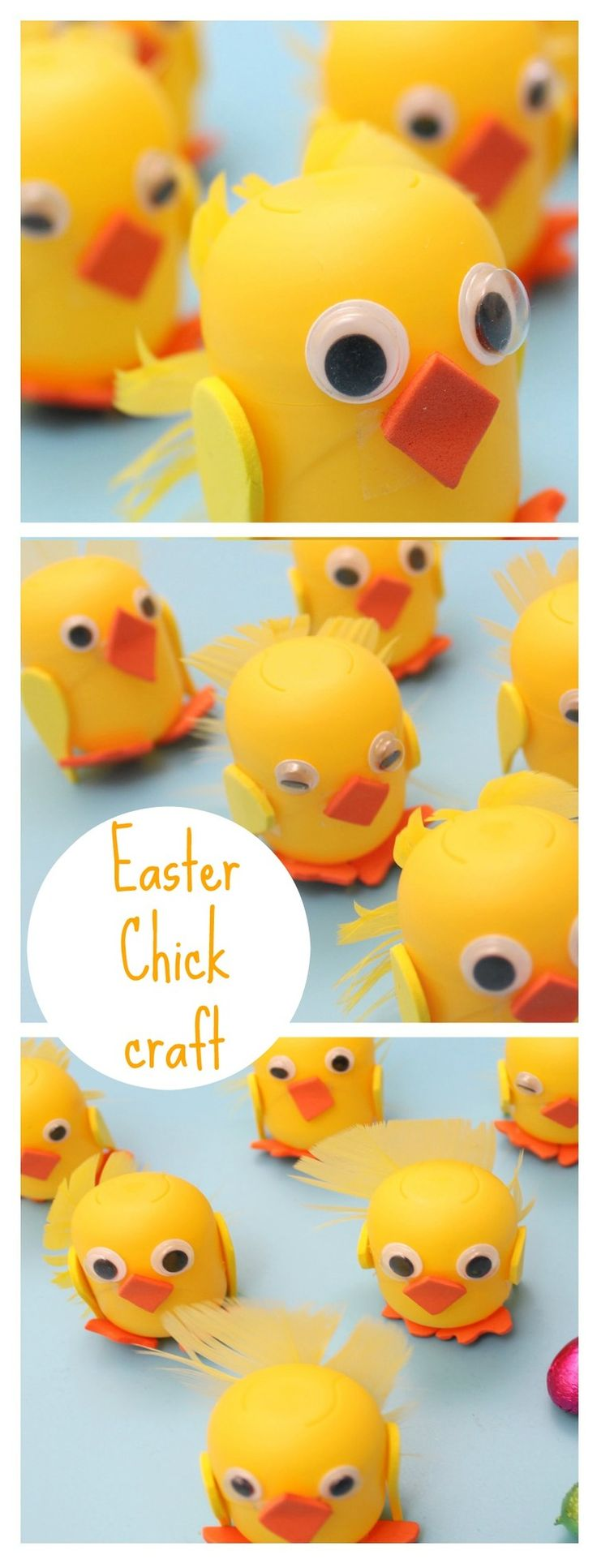 How to make a kinder egg chick