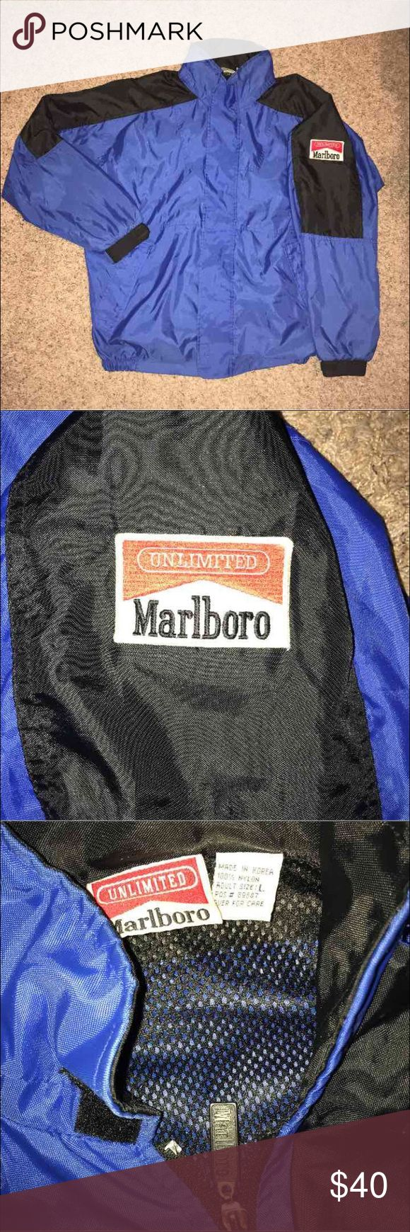 Vintage 90s Marlboro Jacket Adventure Team | 8.5/10 no flaws | L Marlboro Jackets & Coats Performance Jackets