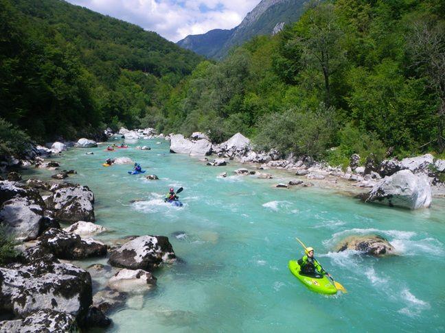 Korintica, Slovenia kajakken :)