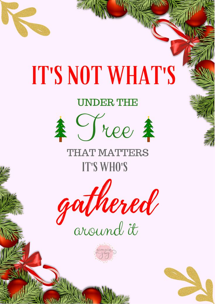 Christmas quote. What's really important during Christmas.