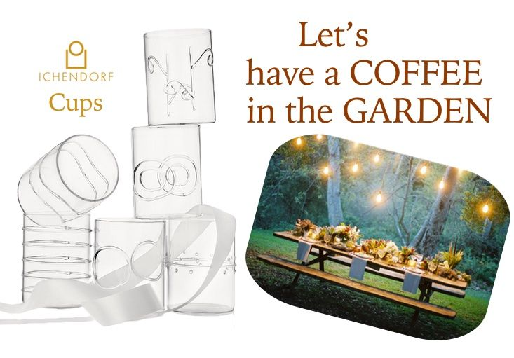 ICHENDORF: Set of 6 different #coffee cup in #crystal #glass. http://bit.ly/1BT0vfE #design #outside #break #friends #relax