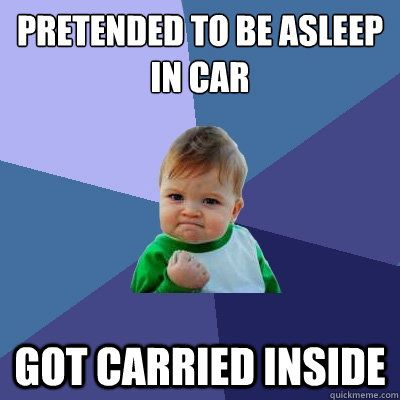 I definitely did this when I was little!