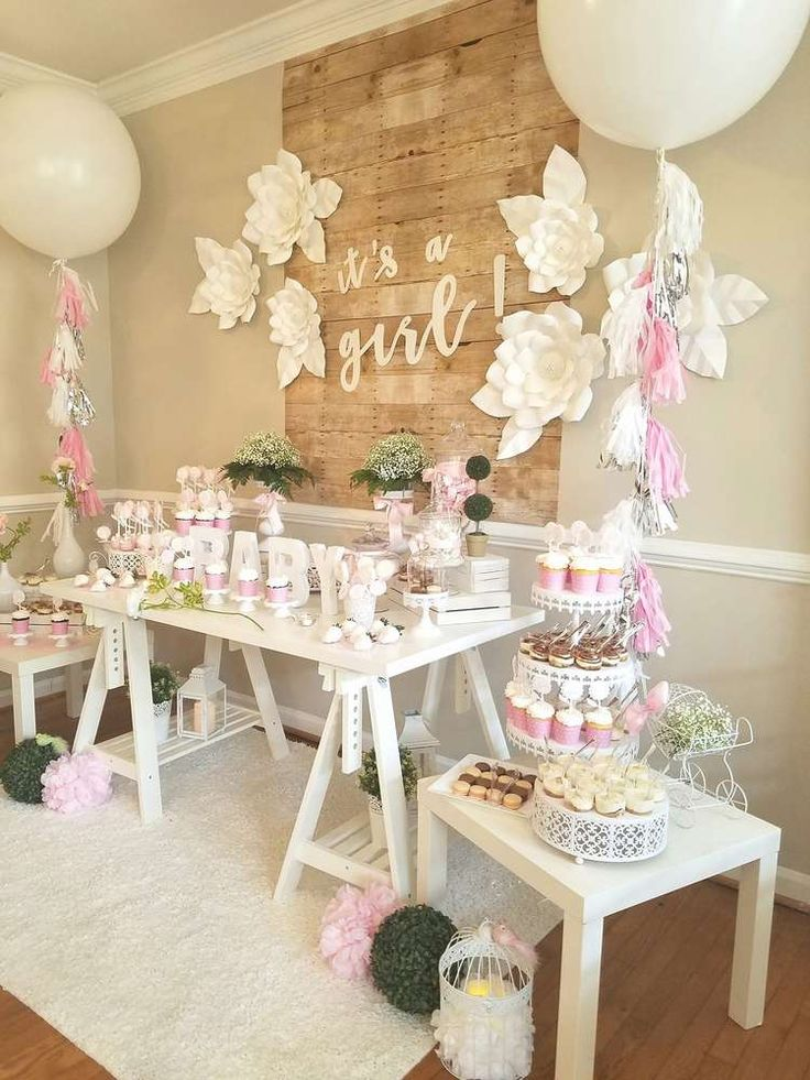 Best 25 girl baby showers ideas on pinterest babyshower for Baby shower decoration set