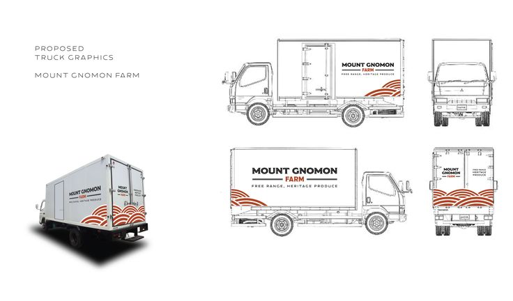 Truck wrap for Mount Gnomon Farm