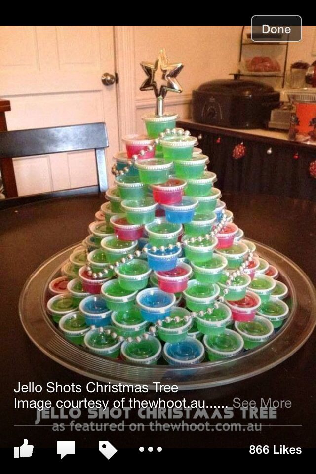 Christmas Tree Jell-O shots