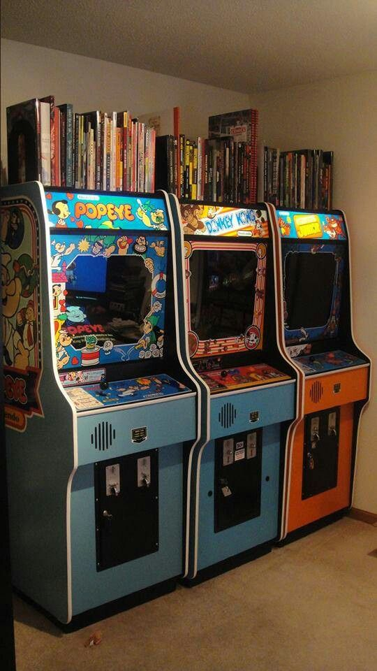 Of course arcade machines make a practical addition to your home – you can use them as a bookshelf AND play games on them. What more could you possibly want?