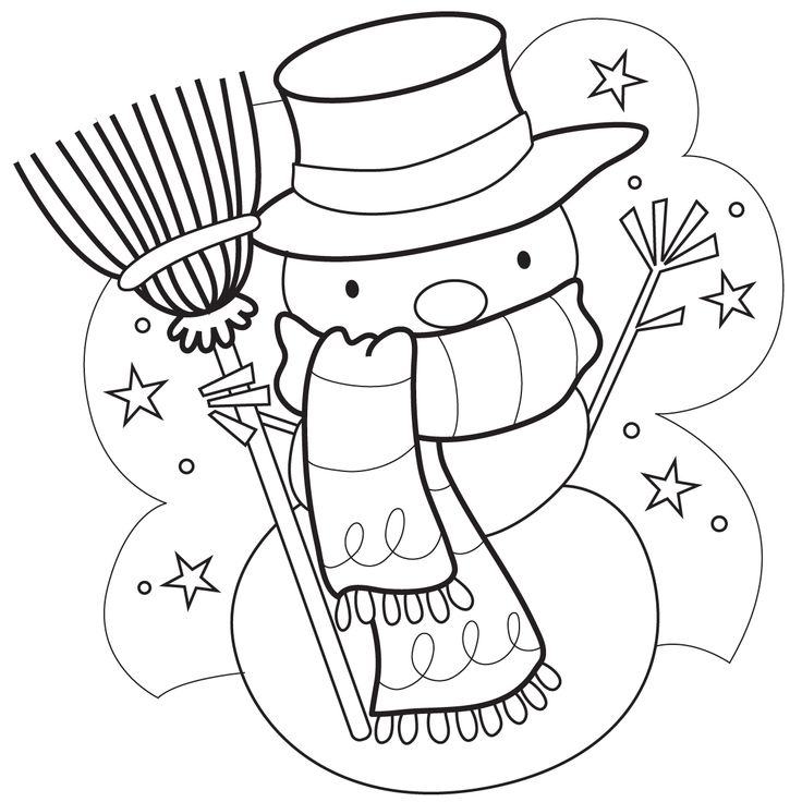 Mr Snowman On Christmas Touching A Snowflake Coloring Page: Marisa Straccia: Snowmen