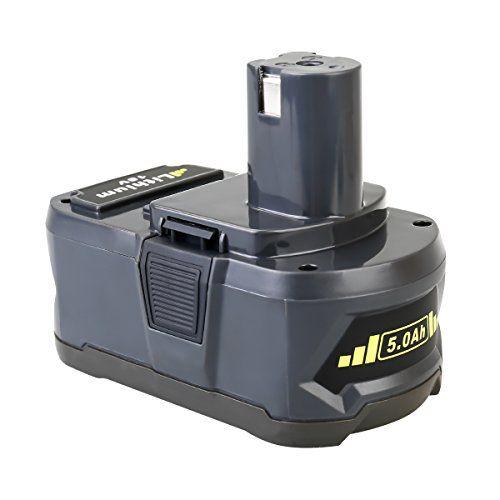 Flylinktech 5.0Ah 18V Replacement Battery for Ryobi 18V Lithium Battery P102 P103 P105 P107 P108 P109 Ryobi ONE+ Cordless Tool (1pack) #Flylinktech #Replacement #Battery #Ryobi #Lithium #ONE+ #Cordless #Tool #(pack)