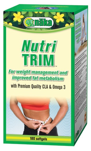 Help to trim down and manage your weight the natural way with Nutri TRIM softgels from Naka. Nutri TRIM softgels feature premium quality CLA and Omega-3 plus Green Tea Extract, Pine Nut Oil, Grapefruit and more to help you win the battle of the bulge. Nutri TRIM is specially formulated to help you lose inches, burn away fat and reduce cellulite. At The Health Garden for $43.99