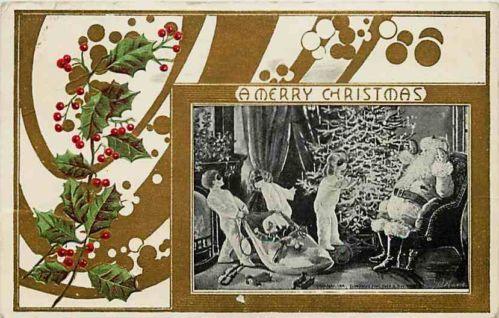 Christmas 1907 Three Masked Kids Gun Rob Santa Claus Toy Bag Vintage Postcard | eBay Price:  $18.99