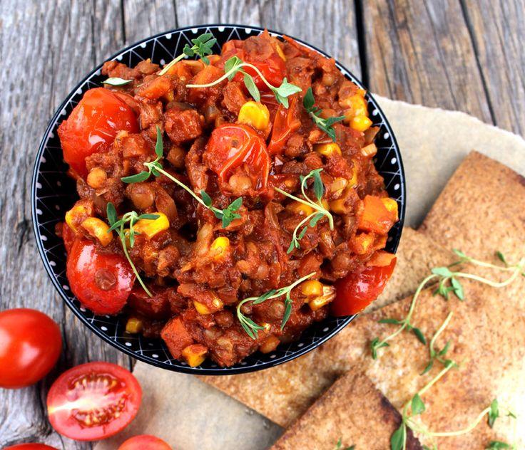 Linsetacogryte med tortillachips | VeganMisjonen | Oppskrifter på Veganmat og Vegetarmat | Bloglovin'