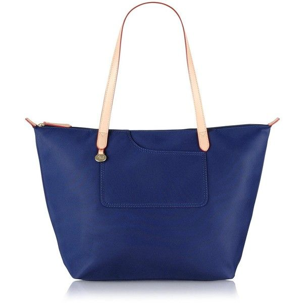 Radley Pocket Essentials Large Tote Bag (125 NZD) ❤ liked on Polyvore featuring bags, handbags, tote bags, blue handbags, man bag, pocket purse, purse tote and blue hand bag