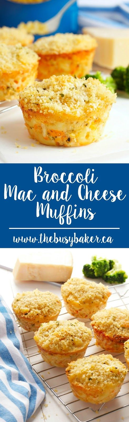 These Broccoli Mac and Cheese Muffins are the perfect side dish for Father's Day! www.thebusybaker.ca #fathersday #macandcheese