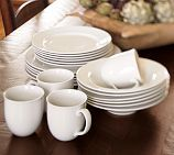 Great White Traditional Dinnerware, 16-Piece Set with Soup Bowl-PB#Repin By:Pinterest++ for iPad#
