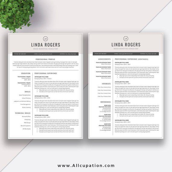 Professional Resume Template Word | CV Template | Free Cover