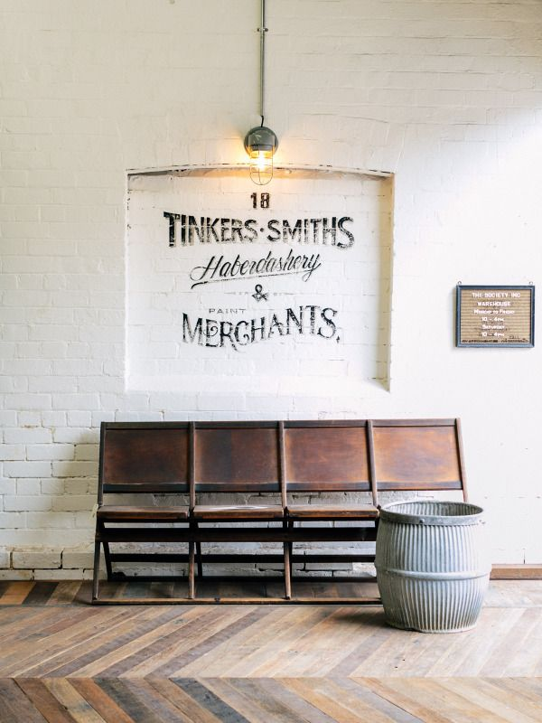 We love the traditional wall art in this space. #typography #art