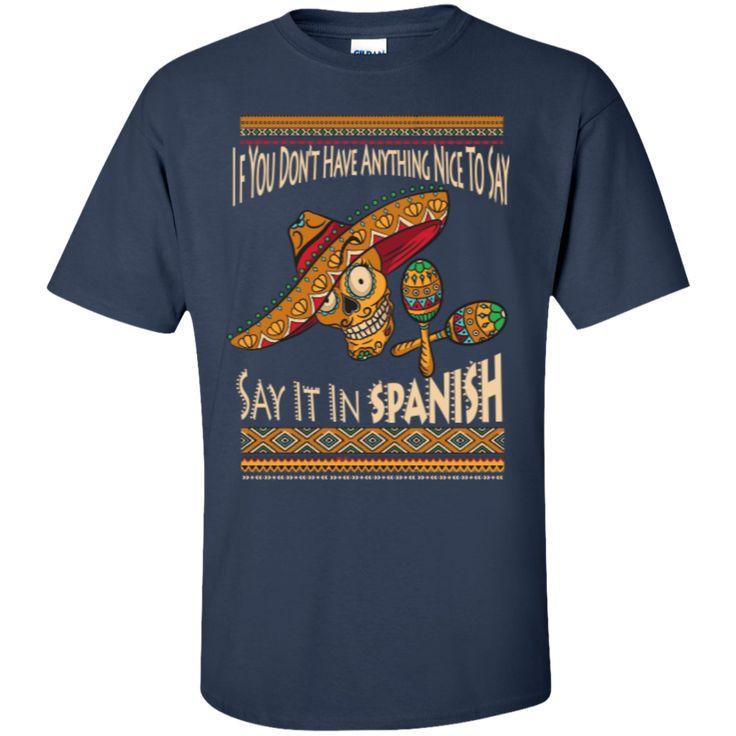 Spanish class t shirts