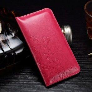 Husa  iPhone 6s Plus / iPhone 7 Plus, ULTRASLIM, Tip portofel,Imprimeu Floral, Rosu