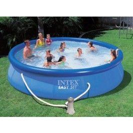 Bewährtes Einsteigermodell: 366 x 91 cm -ca. 6.734 Liter - Schwimmbecken mit Filterpumpe, Komplettset