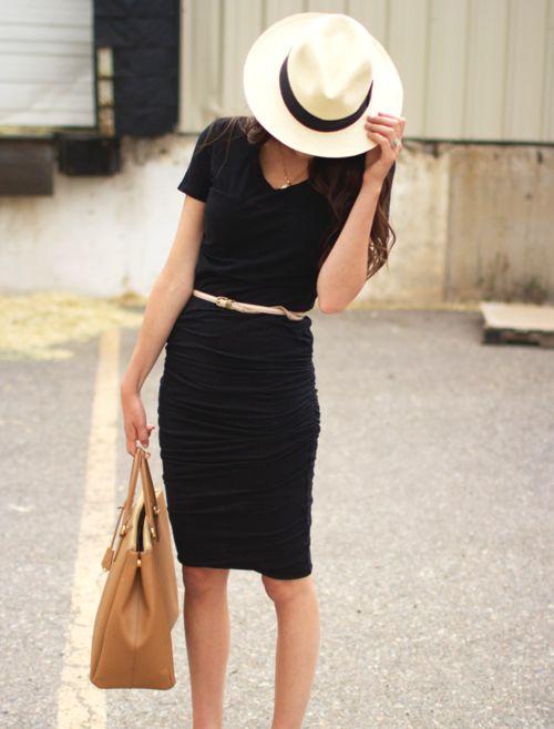 classic: Panama Hats, Summer Dresses, Summer Style, Dresses Belts, White Hats, Little Black Dresses, The Dresses, Summer Chic, Dresses Hats