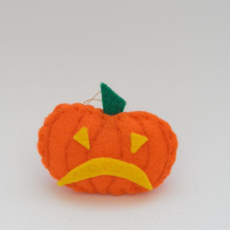 Sad pumpkin - halloween decor, trick or treat, scary, horror, spooky, halloween decoration, cute. by HalloweenOrChristmas on Etsy