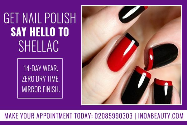 INOA Beauty salon offering you an up to one-hour guinot Shellac gel polish (Hand and feet). Get Shellac Gel Nail Polish at INOA Beauty and Say Hello to Shellac!  Book now: inoabeauty.com/deals