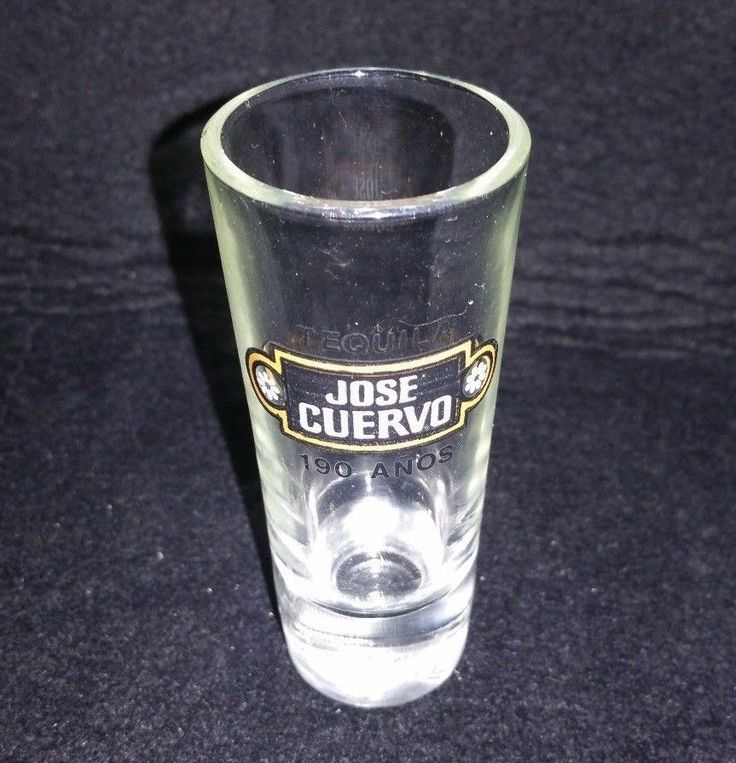 jose cuervo tequila tall shot glass tall shooter 190 anos hill country picker