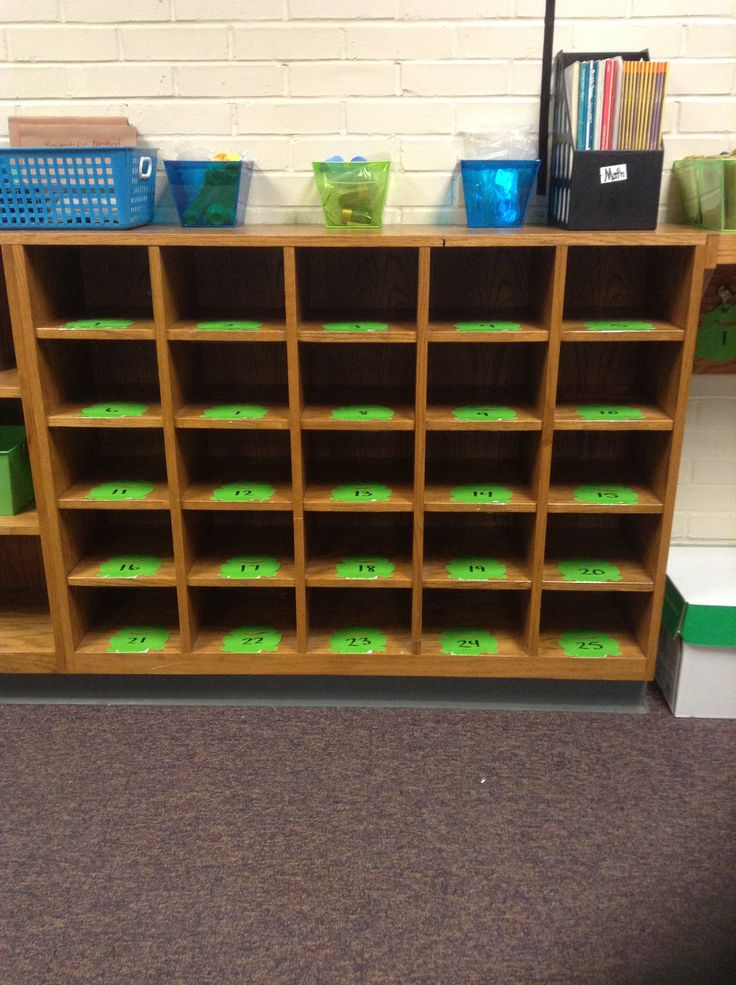 Classroom Door Design ~ Student cubbies i would use these for students to put