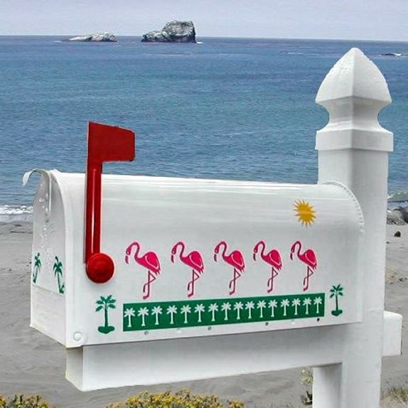 Silhouette Flamingo Decorative Mailbox574 x 574 | 49.8KB | www.mailboxcollectionsetc.c...