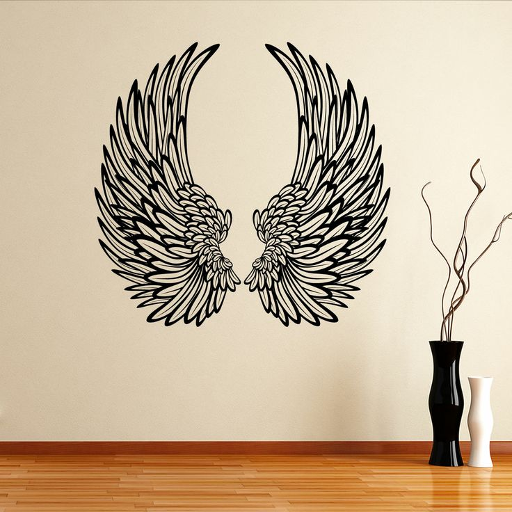 92 best angel wall decals images on pinterest wall for Angel wall mural