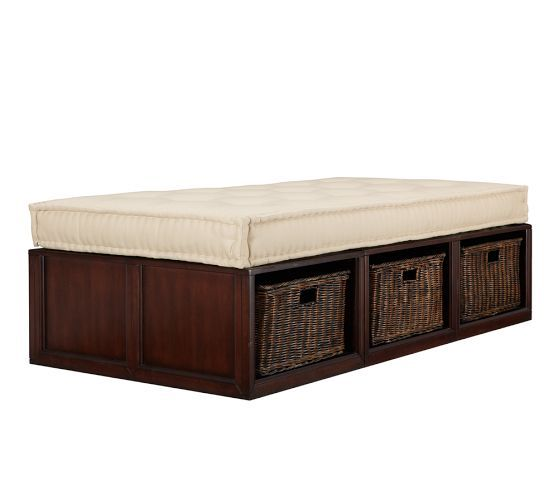 Stratton Daybed with Baskets  Pottery Barn