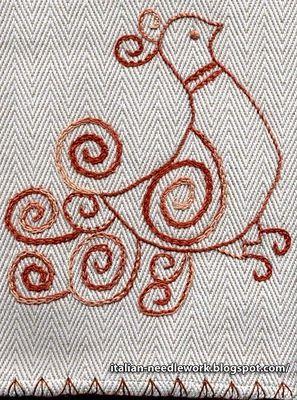 Italian Needlework: Sardinian Bird Motifs