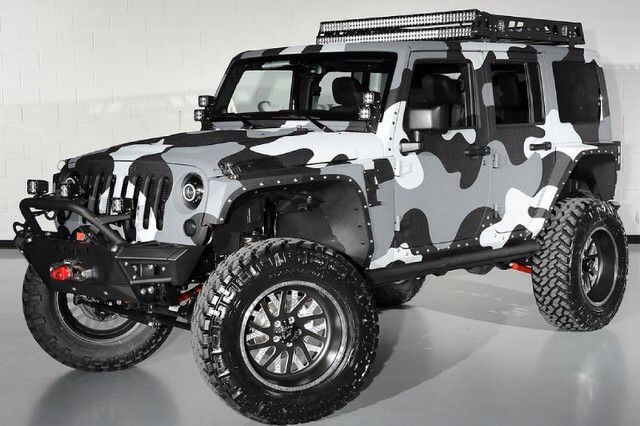 That Paint Job Will Make You Inconspicuous In This Jeep