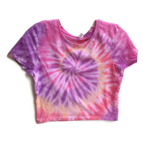 1970s Fashion by ladymiledi on Polyvore featuring polyvore, fashion, clothing, tops, shirts, crop tops, t-shirts, tye dye shirts, purple crop top and hippie tie dye shirts