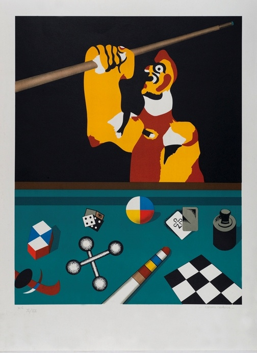 "Equipo Cronica, Serie ""El Billar"" Serigrafia, 84 x 63 cm 1978. #art #serigrafia #dolorsjunyent"