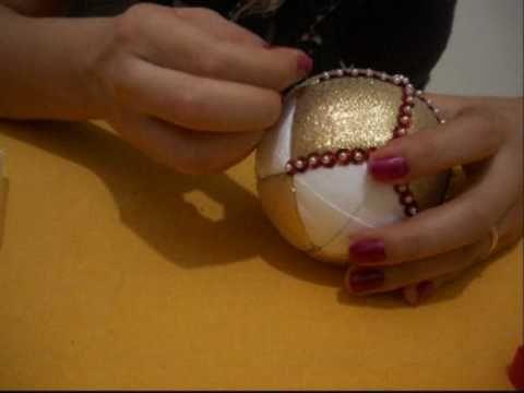TUTORIAL: realizzare una pallina gioello per per l'albero - YouTube