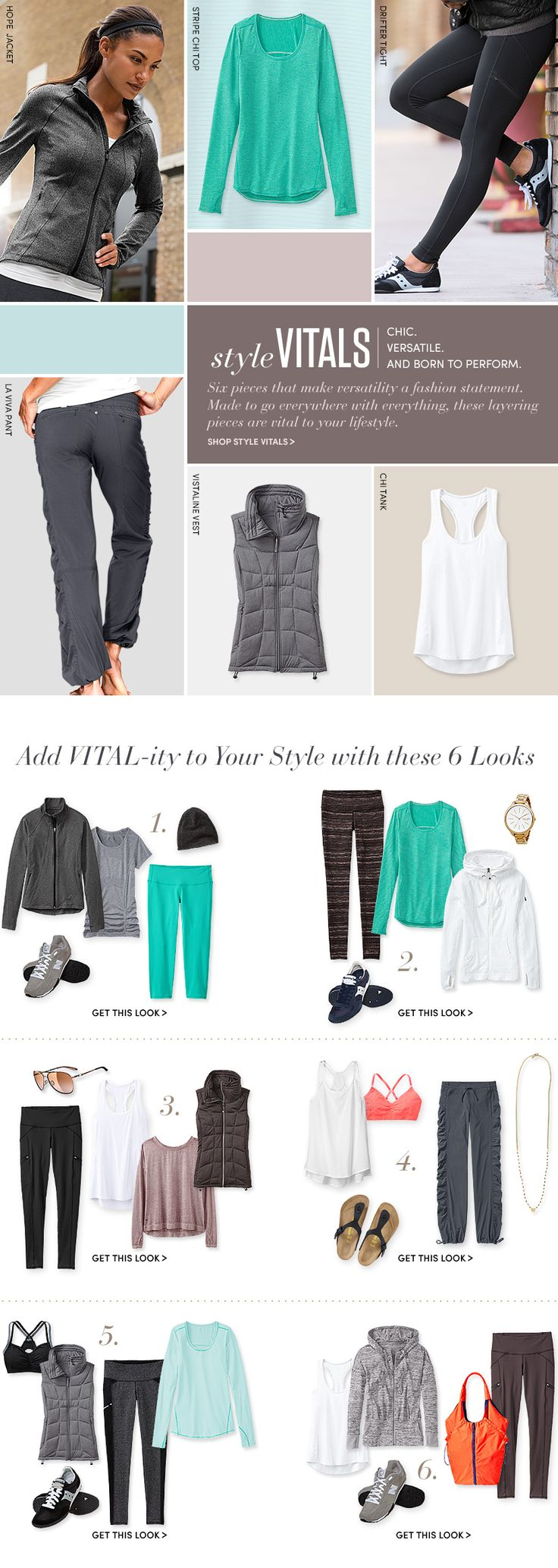 Style   Athleta- I love these color combos. Especially like the looses panter pants in photo 3. Everything look comfy!