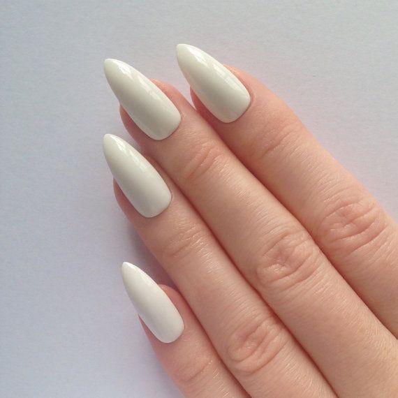 Ivory Stiletto Nails