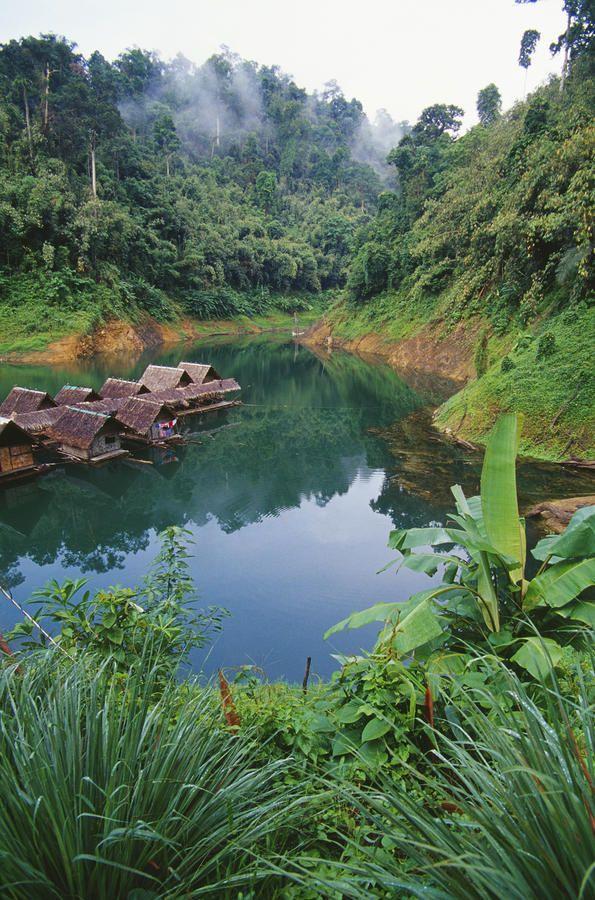 ✯ Khao Sok National Park, Thailand - Floating bungalows on a jungle lake